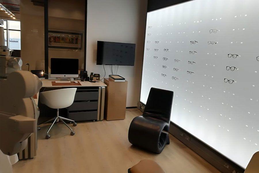 optometrist reception renovation