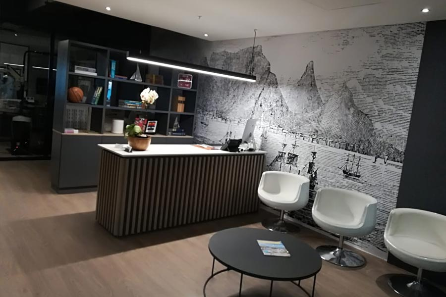 reception area renovation
